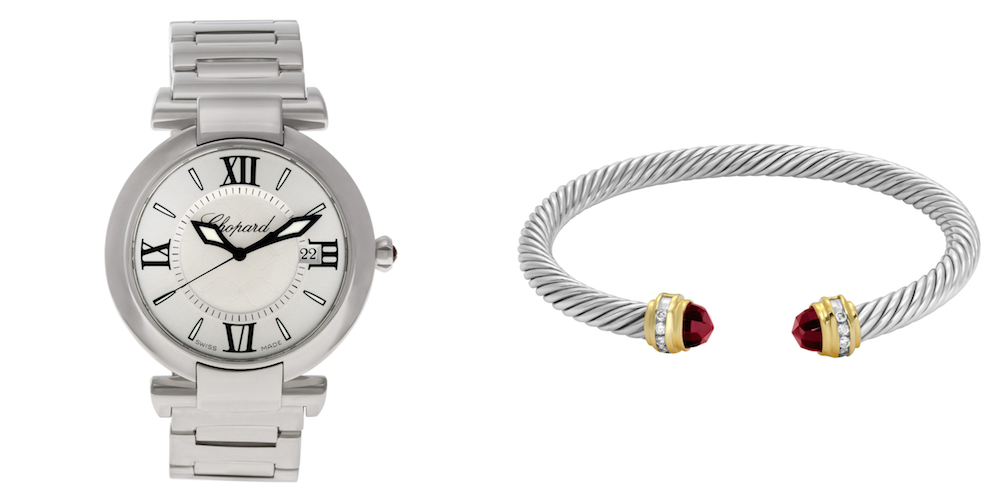 Best Luxury Watch & Designer Watch Pairings: David Yurman Cable Bangle & Chopard Imperiale