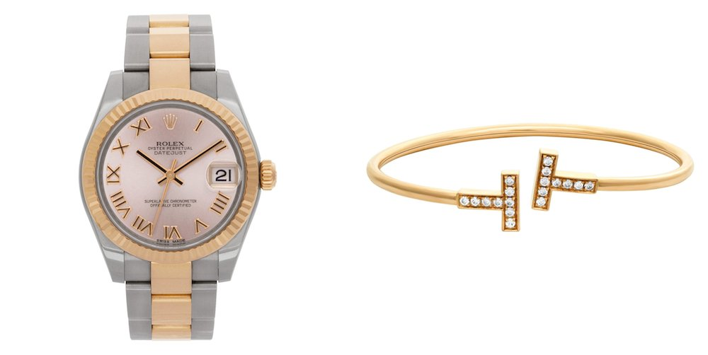 Best Luxury Watch & Designer Watch Pairings: T Wire Bracelet & Rolex Lady-Datejust