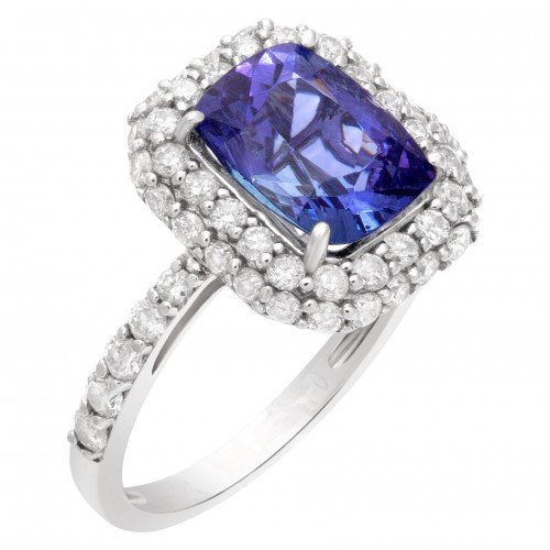 December Birthstone Jewelry: AGA-Certified Tanzanite Ring