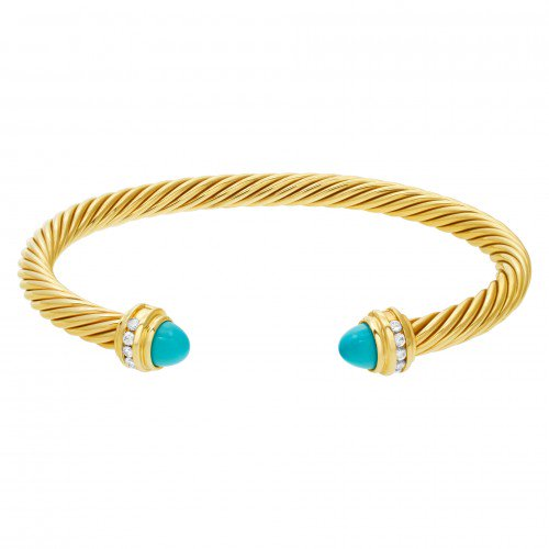 December Birthstone Jewelry: David Yurman Turquoise Bracelet