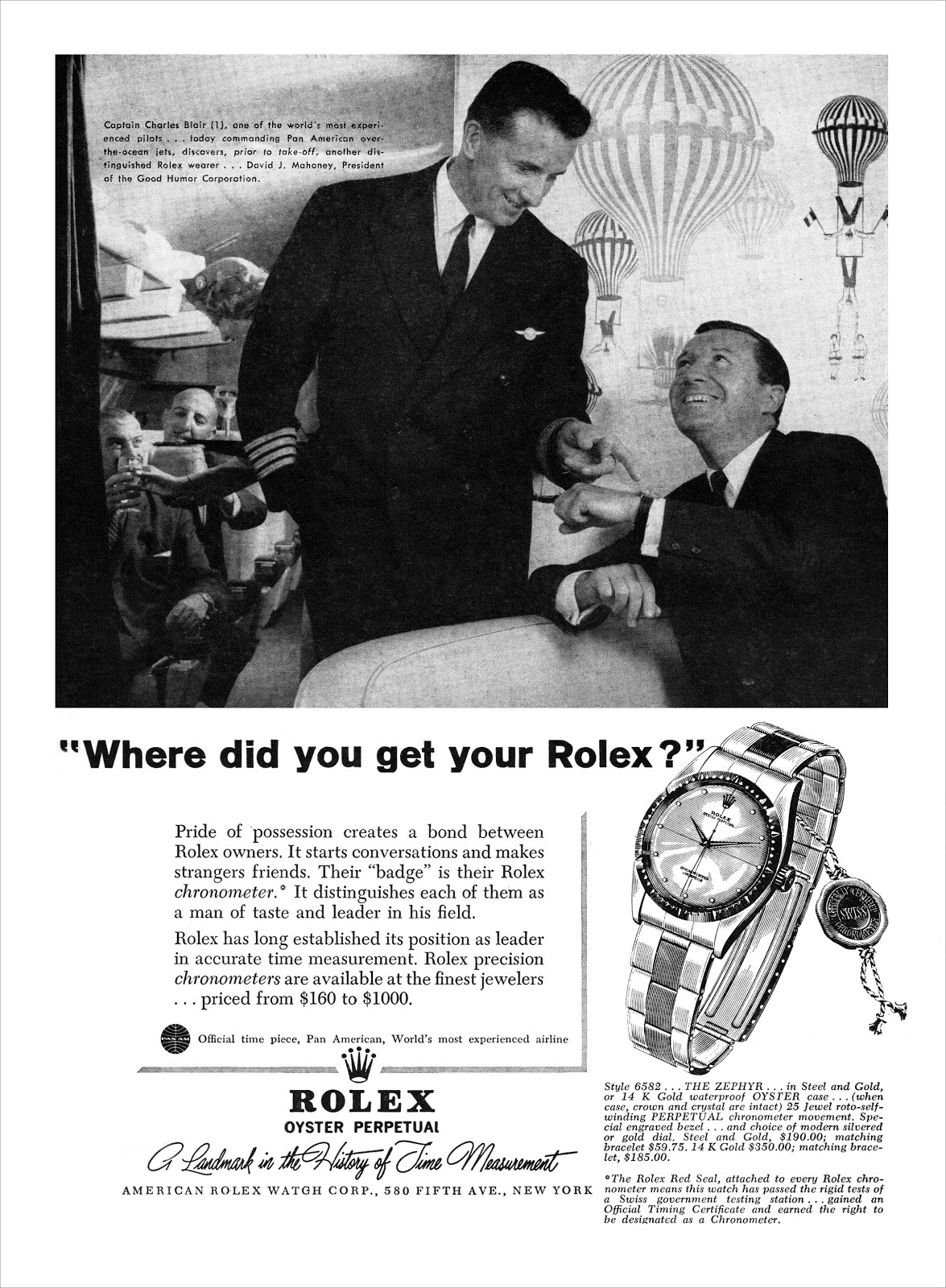 Vintage Rolex Zephyr 6582 ad