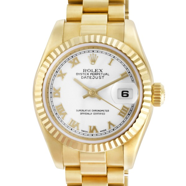"Yellow Gold Rolex Lady Datejust ""President"""