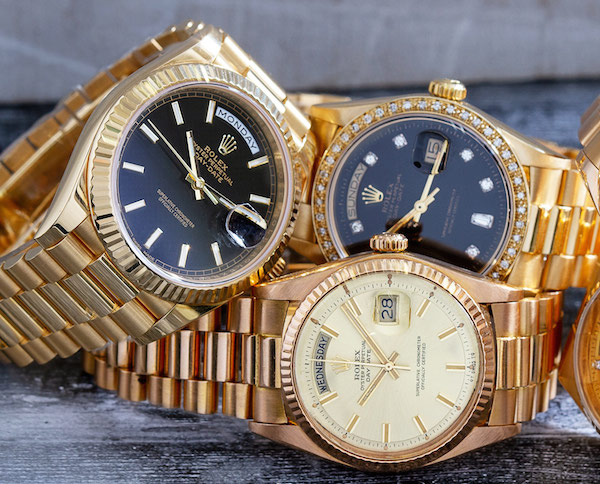 This holiday season, treat yourself (someone special) to a gold Rolex watch