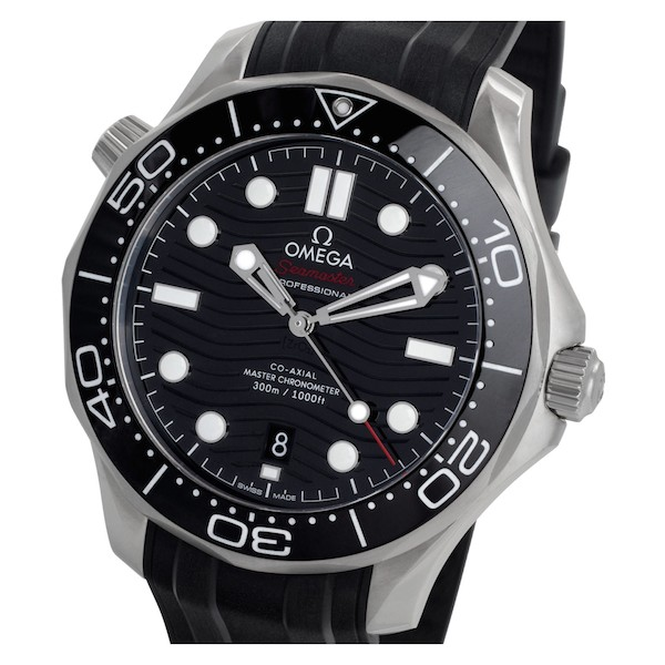 Stainless steel and black dial 25th Anniversary Omega Seamaster Diver 300M
