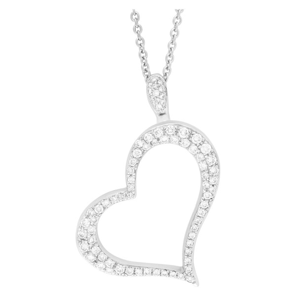 Piaget Limelight Diamond Open Heart Pendant Necklace