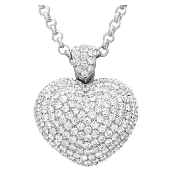 Pasquale Bruni Diamond Puffed Heart Pendant