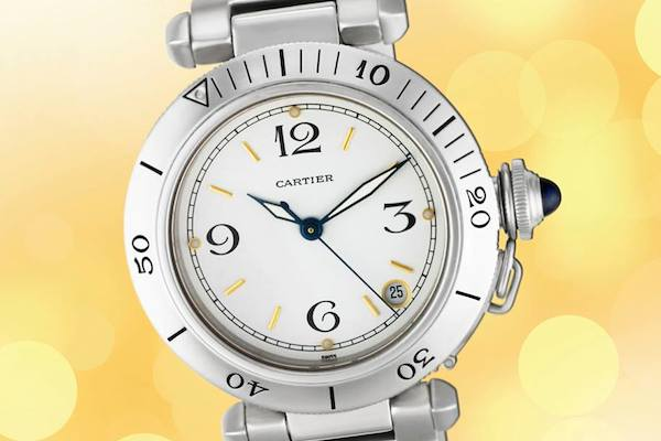 Stainless steel Cartier Pasha watch