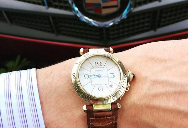 Yellow gold Cartier Pasha watch
