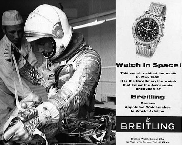 Vintage Breitling Navitimer Cosmonaute ad