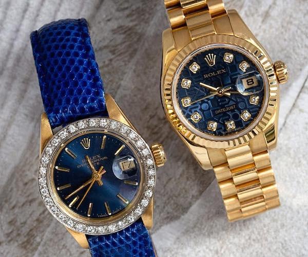 Blue Rolex Watch: Lady Datejust