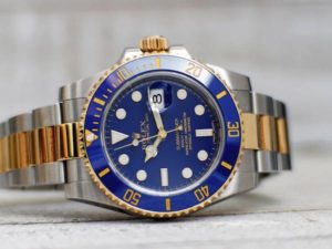 Blue Rolex Watch