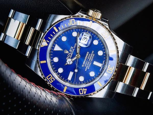 Blue Rolex Watch: Two-Tone Submariner Cerachrom