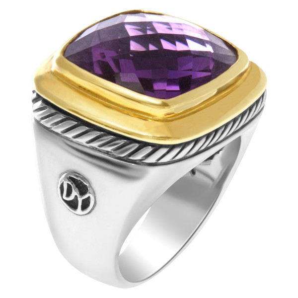 February Birthstone Amethyst David Yurman Albion Ring