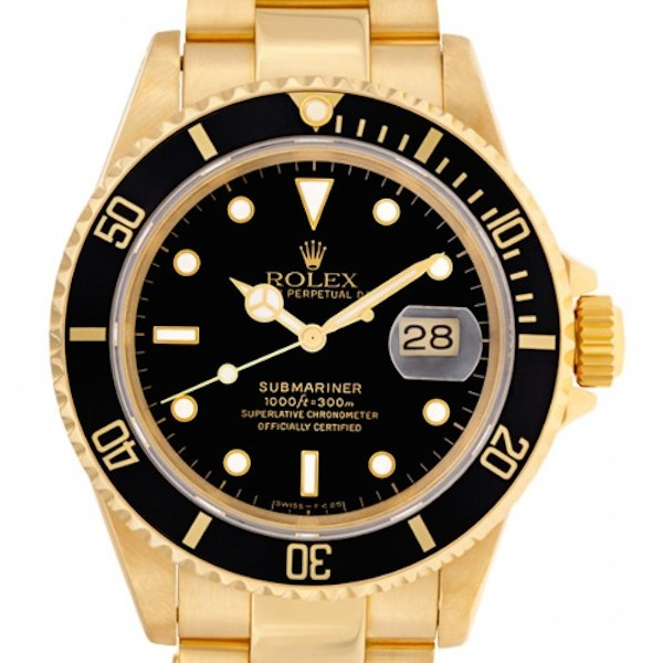 Yellow gold Submariner 16618