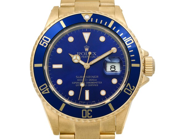 Yellow Gold Rolex Submariner Date ref. 16808