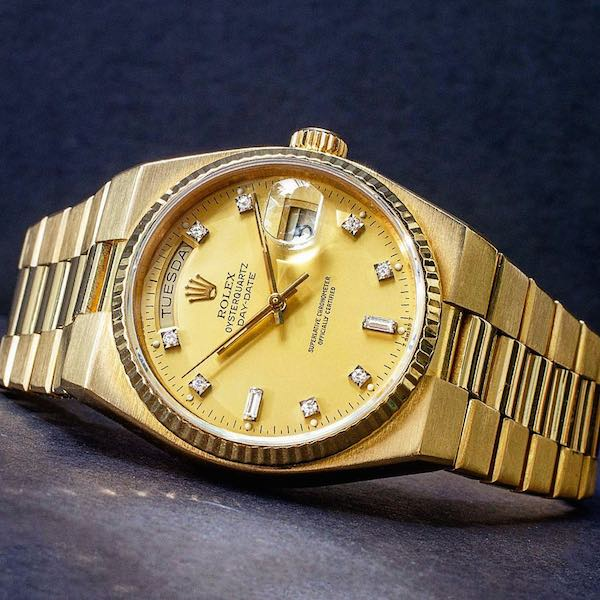 Diamond Rolex Oysterquartz Day-Date