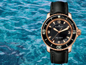 Rose Gold Blancpain Fifty Fathoms Dive Watch