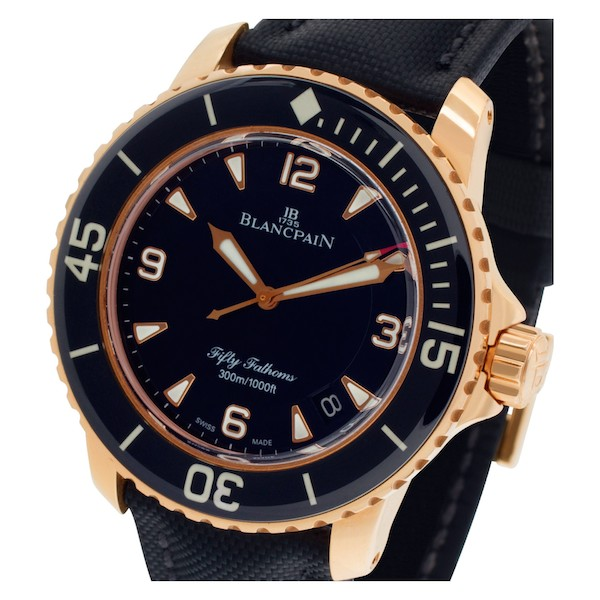 Rose Gold Blancpain Fifty Fathoms Automatique 5015 3630 52A