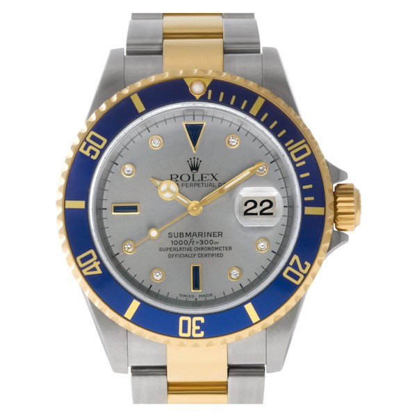Rolex Submariner Serti Dials have diamonds and sapphires