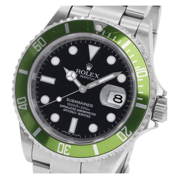 Green Rolex Submariner 16610LV Kermit