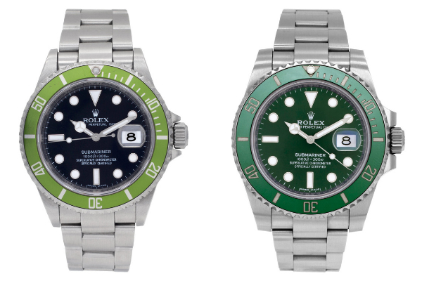 Green Rolex Submariner 16610LV vs 116610LV