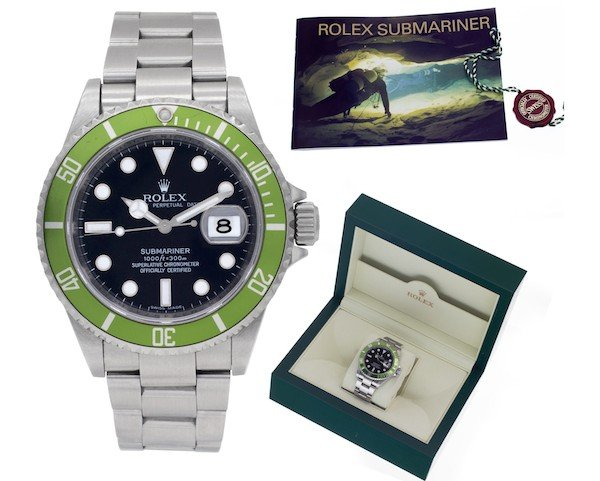Green Rolex Submariner 16610LV