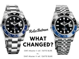 New Rolex Batman vs Old Rolex Batman
