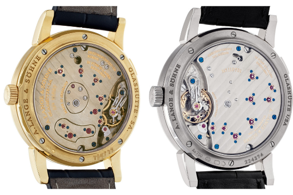 Lange 1: Caliber L901.0 (left) and New Caliber L121.1 (right)
