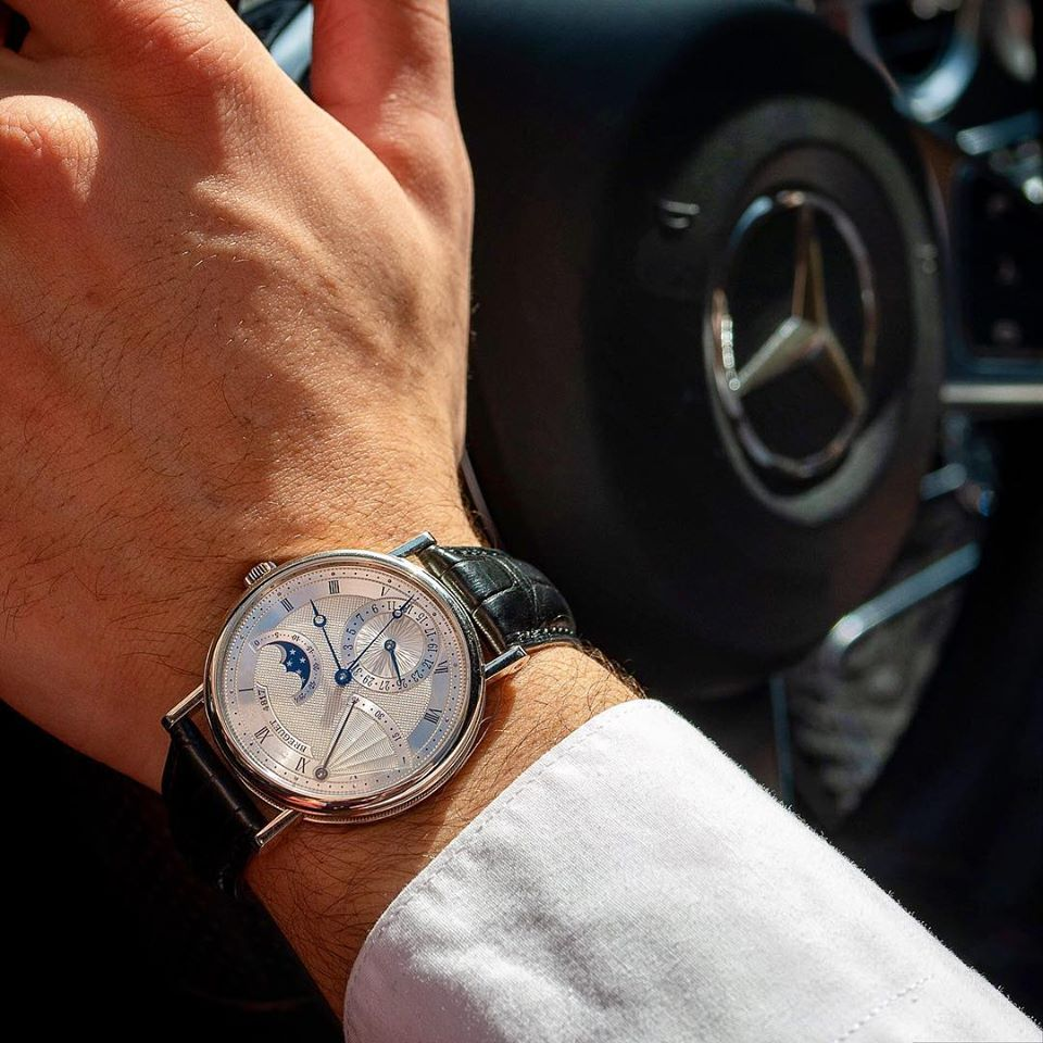 White Metal Case And Blue Watch Hands, The Classic Combo