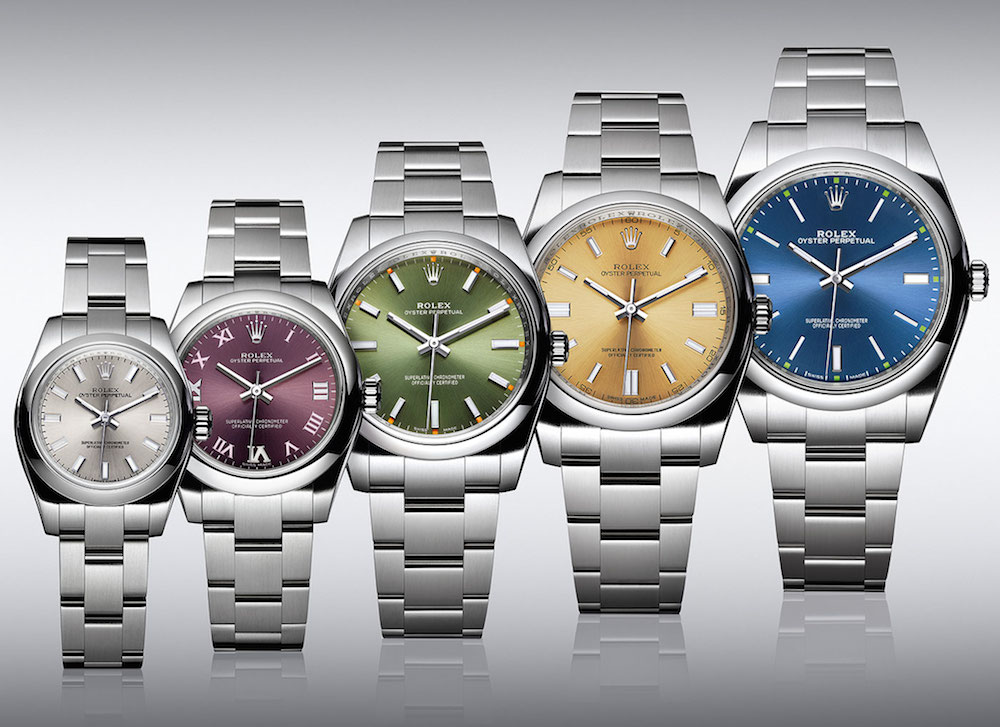 The colorful Rolex Oyster Perpetual range