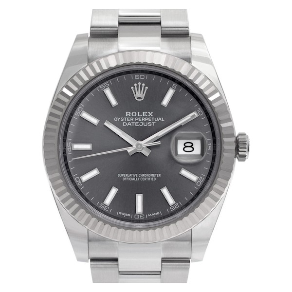Stainless steel and white gold Rolex Datejust 41 126334