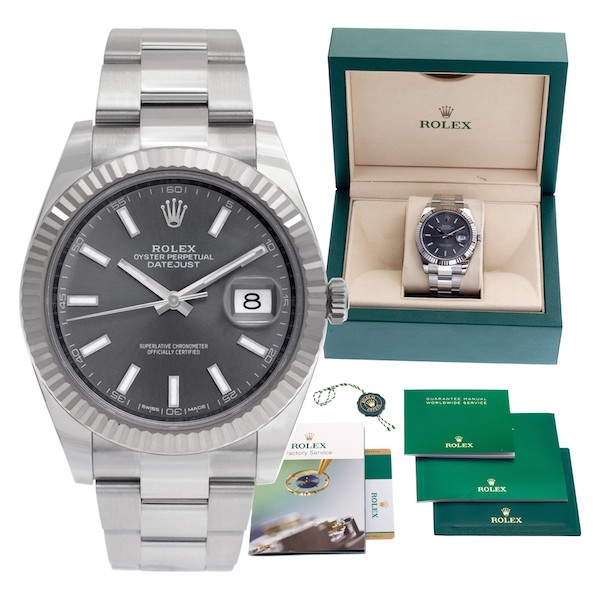 Stainless steel and white gold Rolex Datejust 41 ref. 126334