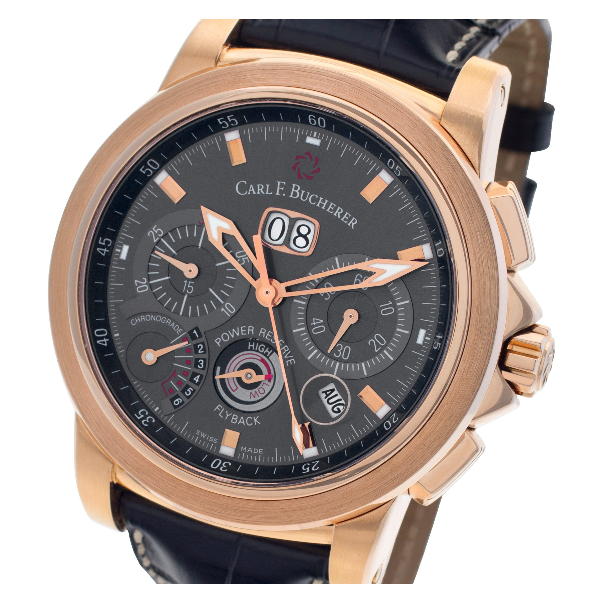 Rose Gold Carl F. Bucherer Patravi Chronograde