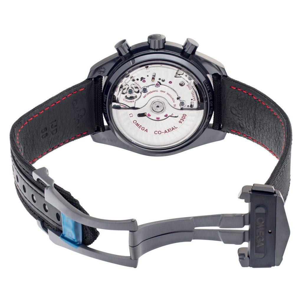back of an omega speedmaster watch