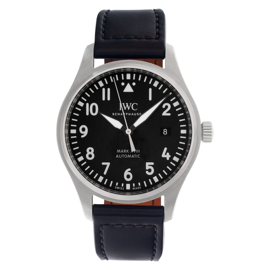 Simple Stainless Steel Watches: IWC Pilot's Watch Mark XVIII