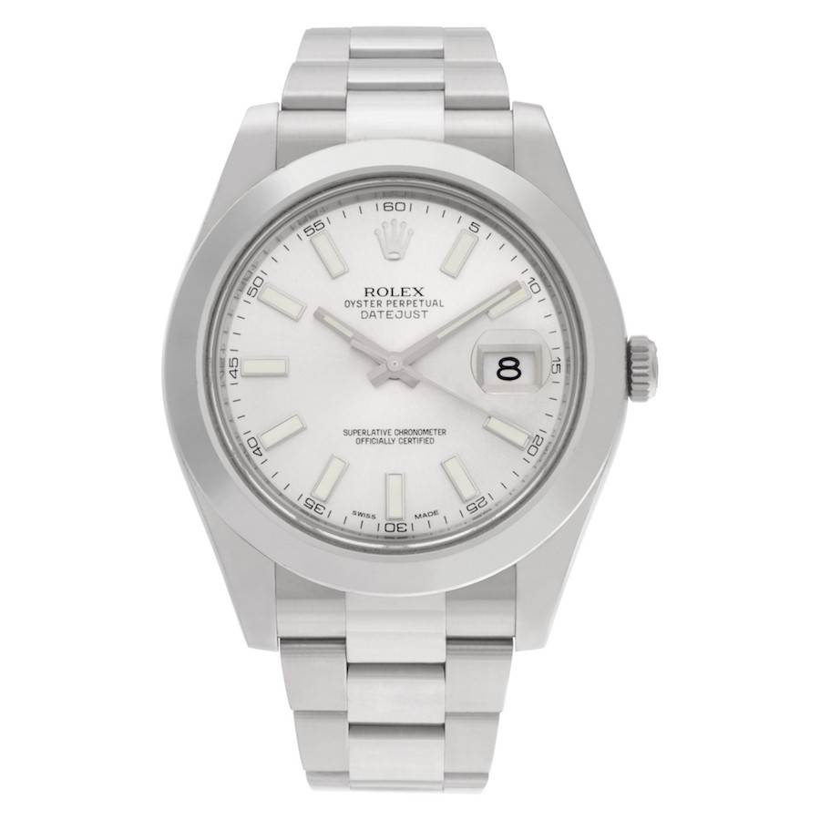 Simple Stainless Steel Luxury Watches: Rolex Datejust II