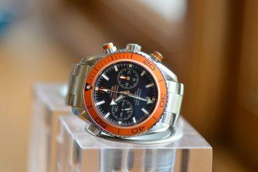 orange omega seamaster planet ocean