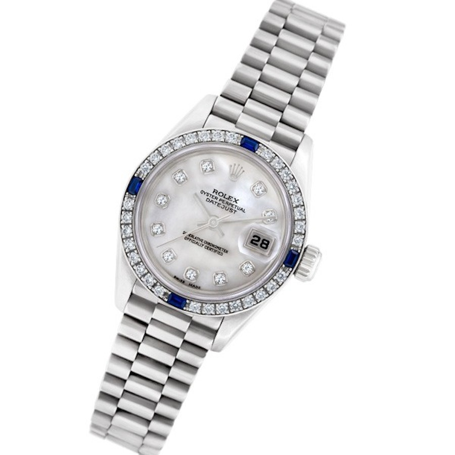 White Gold Lady-Datejust Presidential