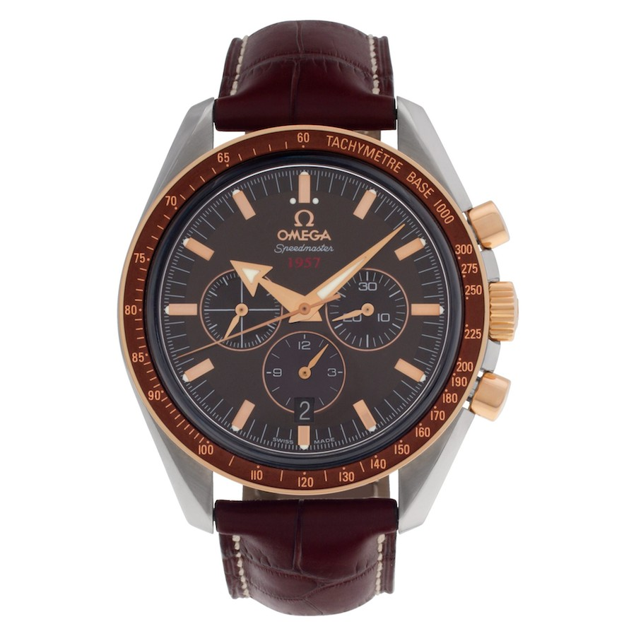 Red Gold and Steel Omega Speedmaster Broad Arrow 1957 321.93.42.50.13.001