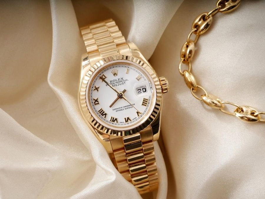 The Rolex Lady President Watch in Yellow Gold
