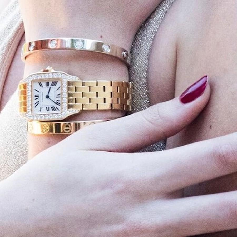 Gold Diamond Cartier Panthere Watch