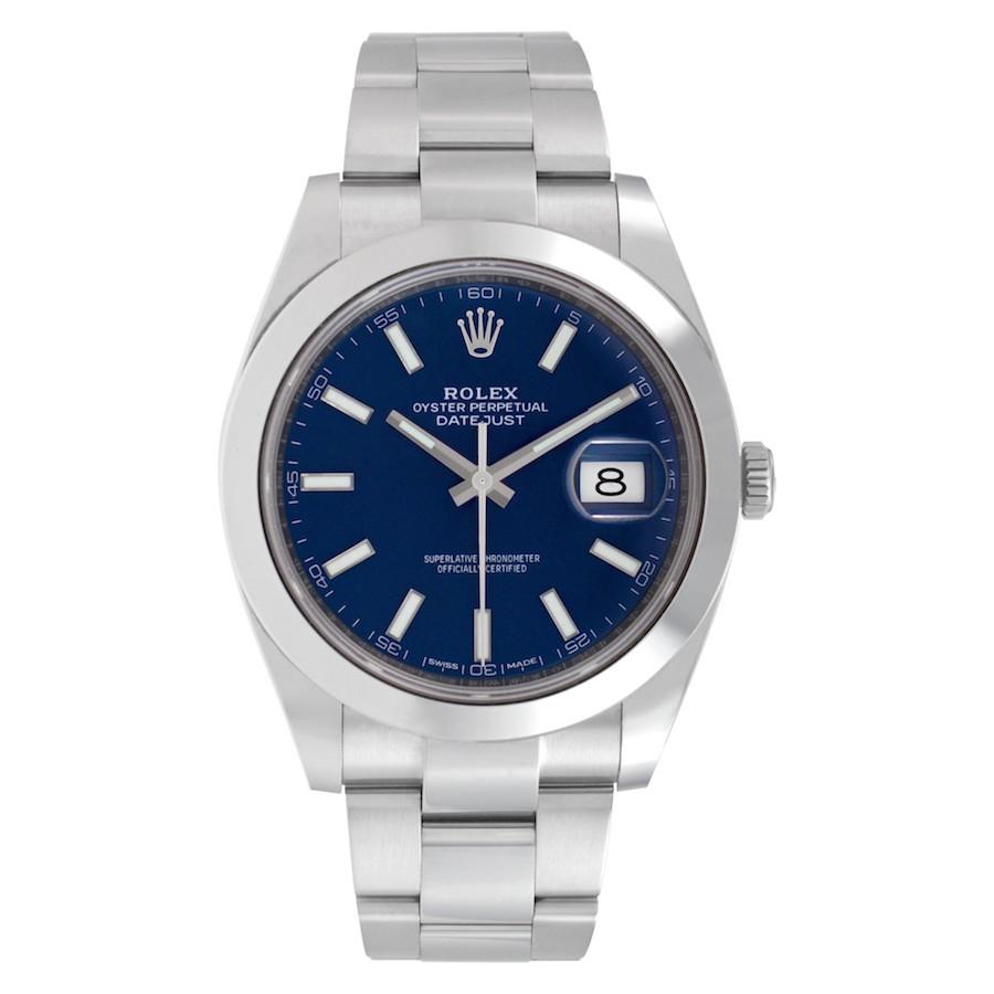 Blue Dial Watches: Rolex Datejust 41 126300