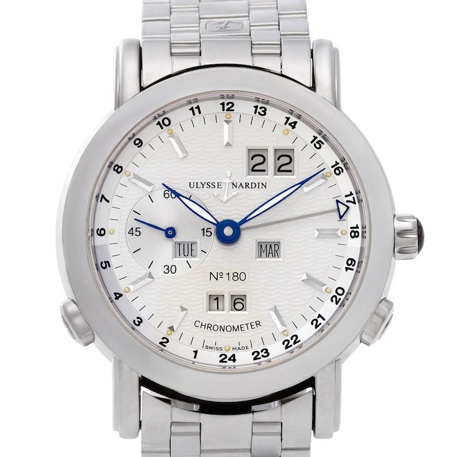 Platinum Ulysse Nardin GMT +/- Perpetual Ref. 329-80