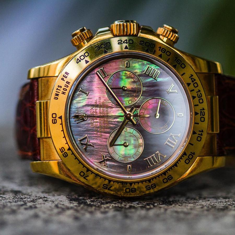 Yellow GOld Rolex Daytona with Leather Strap