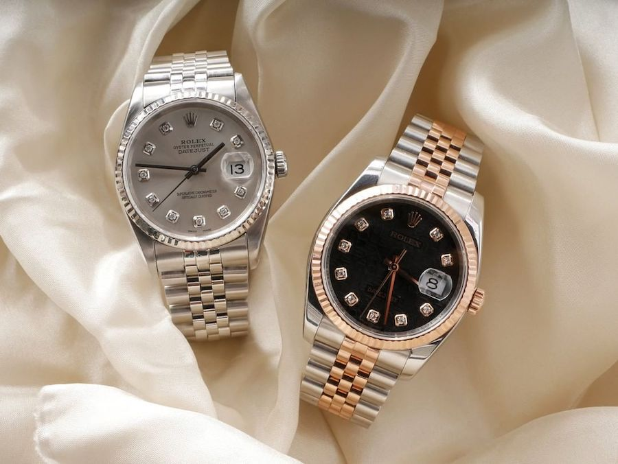 White Rolesor and Everose Rolesor Rolex Datejust