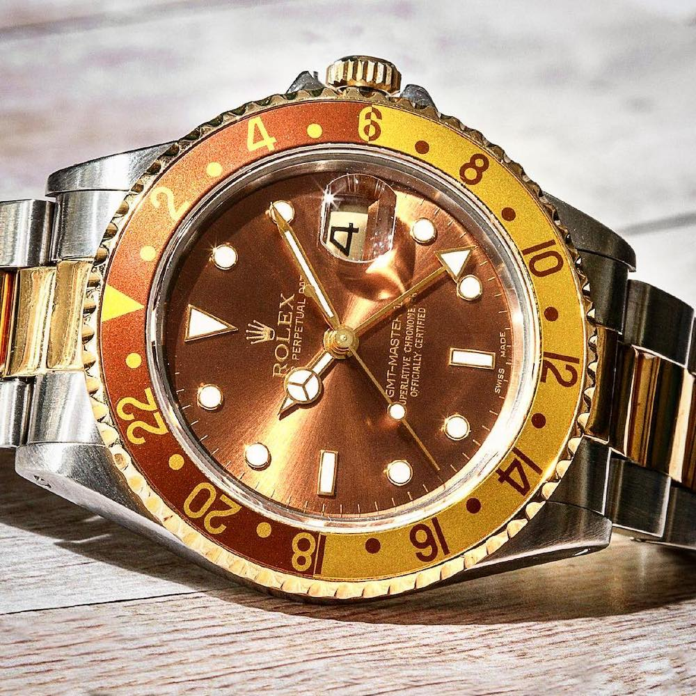 Mens Rolex Two Tone GMT-Master Root Beer