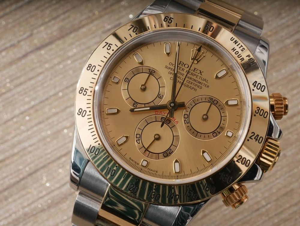 Men's Rolex Yellow Rolesor Daytona