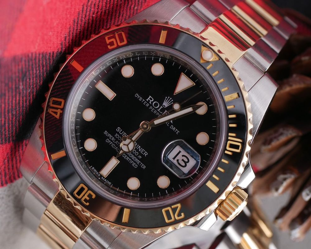 Men's Rolex Submariner in Steel and Gold
