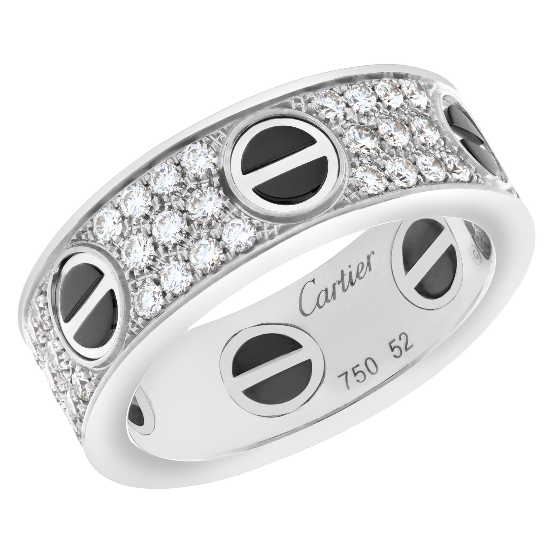 Cartier Love ring, 18K white gold, black ceramic, set with 66 brilliant-cut diamonds