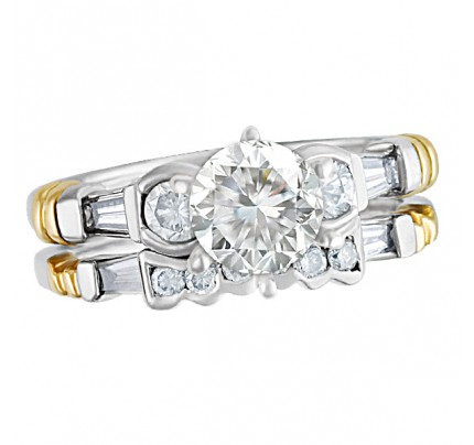 GIA Certified Diamond Ring Set - 1.03 cts (G Color, VS1 Clarity)